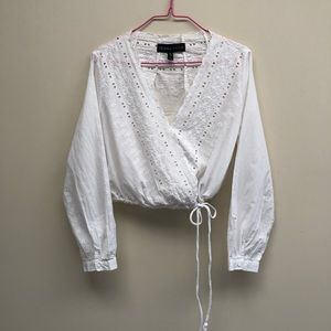Kendall & Kylie x Topshop White Cropped Blouse XS